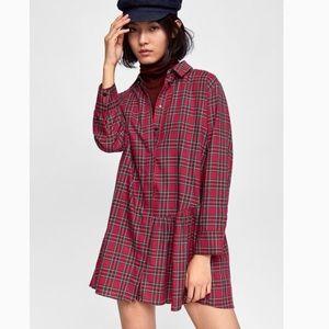 Zara Asymmetric Red Tunic